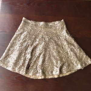 Tobi Gold Sequin Skirt